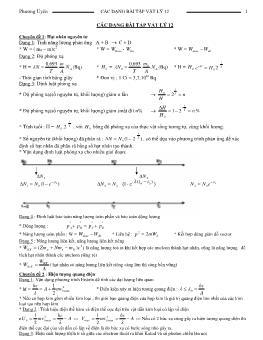 Các dạng bài tập Vật lý 12 - Phương Uyên