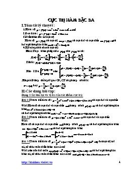 Các dạng bài tập về Hàm số bậc ba