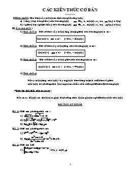 Chuyên đề Sử dụng tính đơn điệu để chứng minh, giải phương trình, bất phương trình