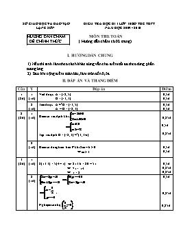 Đề kiểm tra học kì I lớp 10 bổ túc THPT môn Toán năm học 2009-2010