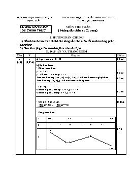 Đề kiểm tra học kì I lớp 12 môn Toán bổ túc THPT năm học 2009-2010 tỉnh Lạng Sơn