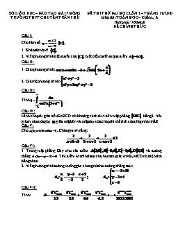 Đề thi thử Đại học, Cao đẳng môn Toán khối A, B năm 2010 lần 2 - THPT Chuyên Trần Phú