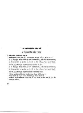 Lý thuyết và bài tập thực hành về Cực trị của hàm số