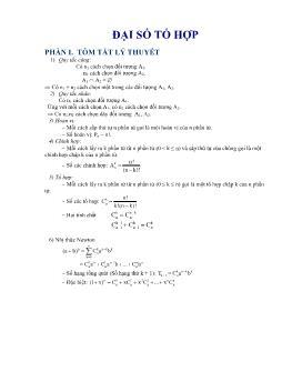 Lý thuyết và bài tập về Đại số tổ hợp - Vũ Ngọc Vinh