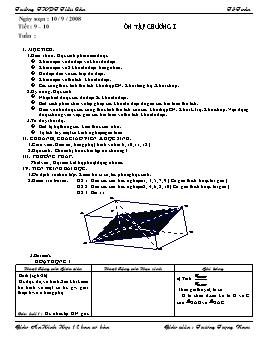 Ôn tập chương I - Hình học 12 ban cơ bản - Trương Trọng Nam
