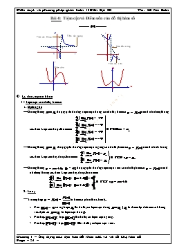 Phân loại và phương pháp giải Toán 12 - Bài 4: Tiệm cận và Điểm uốn của đồ thị hàm số - Lê Văn Đoàn
