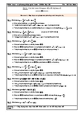 Phân loại và phương pháp giải Toán 12 - Bài 6: Các bài toán liên quan đến đồ thị hàm số - Lê Văn Đoàn