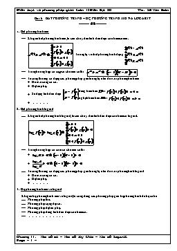 Phân loại và phương pháp giải Toán 12 - Bất phương trình - Hệ phương trình mũ và logarit - Lê Văn Đoàn