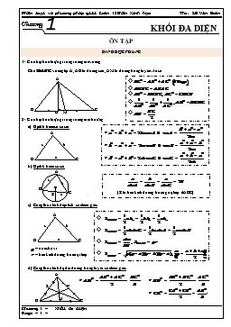 Phân loại và phương pháp giải Toán 12 - Khối đa diện - Lê Văn Đoàn