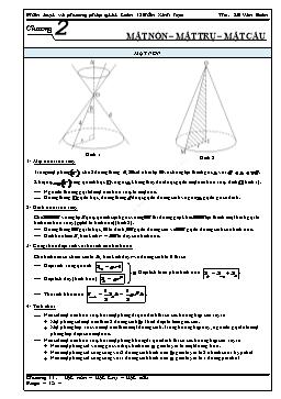 Phân loại và phương pháp giải Toán 12 - Mặt nón, mặt trụ, mặt cầu - Lê Văn Đoàn