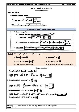 Phân loại và phương pháp giải Toán 12 - Phương trình mũ - Lê Văn Đoàn