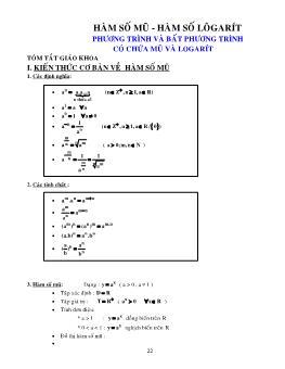 Phương pháp giải phương trình và bất phương trình có chứa mũ và logarit