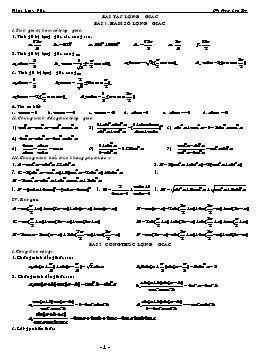 Tổng hợp các bài tập về Lượng giác - Phạm Cao Thế