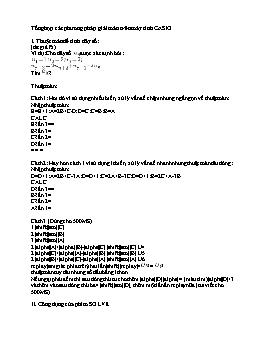 Tổng hợp phương pháp giải toán bằng máy tính CASIO