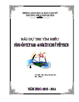 Bài dự thi tìm hiểu Công đoàn Việt Nam - 85 năm xây dựng và phát triển - Bùi Thị Thanh Huyền