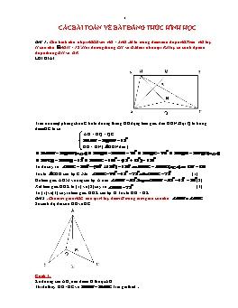 Các bài toán về bất đẳng thức hình học lớp 7