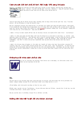 Cách chuyển đổi font chữ, từ font ABC hoặc VNI sang Unicode