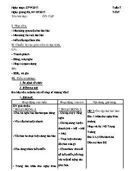 Giáo án Âm nhạc 8 - Tiết 7: Ôn tập