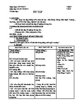 Giáo án Âm nhạc 9 - Tiết 7: Ôn tập