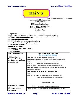Giáo án buổi chiều lớp 4 từ tuần 8 đến tuần 16 - Hoàng Văn Hùng