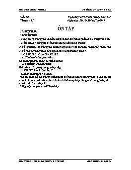 Giáo án Công nghệ 8 - Tiết 35: Ôn tập