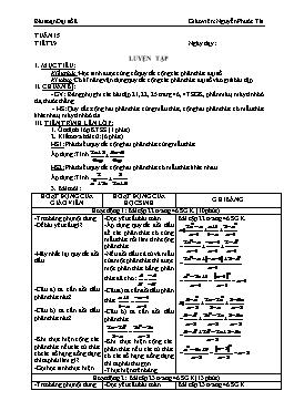 Giáo án Đại số 8 từ tuần 15 đến tuần 19 - Nguyễn Phước Tài