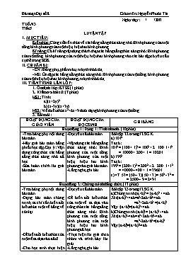Giáo án Đại số 8 từ tuần 3 đến tuần 6 - Nguyễn Phước Tài