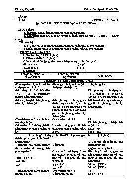 Giáo án Đại số 8 từ tuần 30 đến tuần 37 - Nguyễn Phước Tài