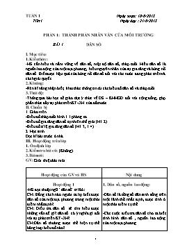 Giáo án Địa lý 7 cả năm năm 2013