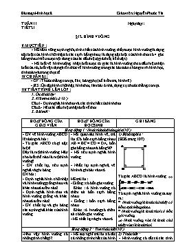 Giáo án Hình học 8 từ tuần 11 đến tuần 14 - Nguyễn Phước Tài