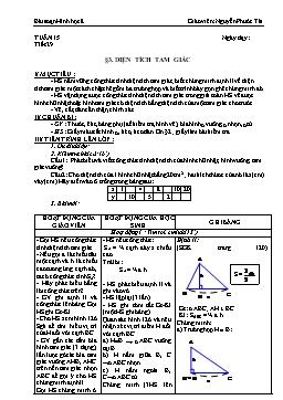 Giáo án Hình học 8 từ tuần 15 đến tuần 19 - Nguyễn Phước Tài