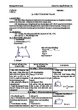 Giáo án Hình học 8 từ tuần 20 đến tuần 25 - Nguyễn Phước Tài