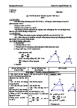 Giáo án Hình học 8 từ tuần 26 đến tuần 29 - Nguyễn Phước Tài