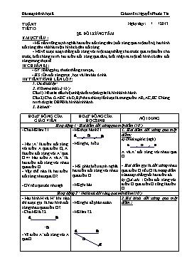 Giáo án Hình học 8 từ tuần 7 đến tuần 10 - Nguyễn Phước Tài