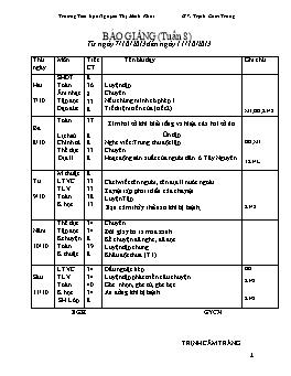 Giáo án Lớp 4 tuần 8 - Trịnh Cẩm Trang