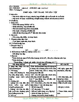 Giáo án Mỹ thuật 6 cả năm - Nguyễn Thành Chiến