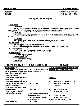 Giáo án Số học 6 - Tiết 38: Ôn tập chương I (tt) - Năm học 2014-2015