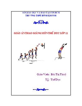 Giáo án thao giảng môn Thể dục lớp 11 - Bùi Thị Thủy