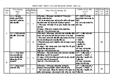 Kế hoạch giảng dạy môn Vật lý lớp 6, 7, 8, 9 - Đinh Anh Tuấn