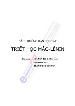 Sách hướng dẫn học tập Triết học Mác - Lênin - Nguyễn Thị Hồng Vân