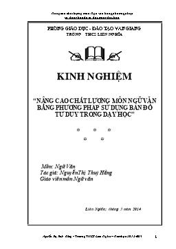Sáng kiến kinh nghiệm - Nâng cao chất lượng môn Ngữ văn bằng phương pháp sử dụng bản đồ tư duy trong dạy học - Nguyễn Thị Thúy Hằng