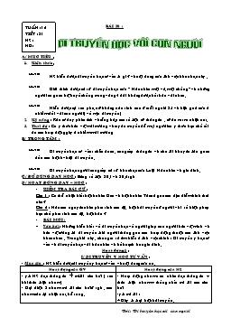 Giáo án Sinh học Lớp 9 - Tiết 31: Di truyền học với con người