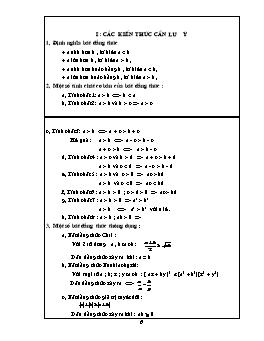Công thức và bài tập Toán liên quan đến bất đẳng thức