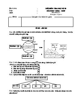 Đề kiểm tra học kì II môn Địa lý Lớp 6 - Năm học 2006-2007