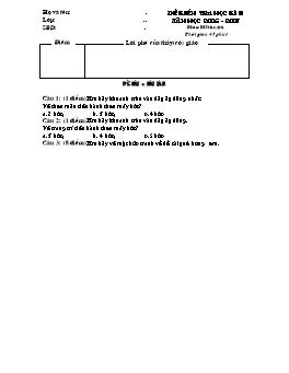 Đề kiểm tra học kì II môn Mĩ thuật Lớp 6 - Năm học 2006-2007