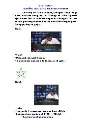 Giải toán Đường lên đỉnh Olypia 2/11/2014