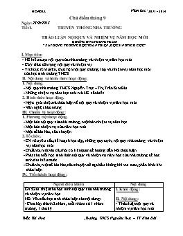 Giáo án Hoạt động ngoài giờ Lớp 6 - Năm học 2013-2014