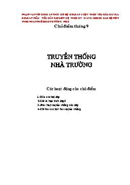 Giáo án Hoạt động ngoài giờ Lớp 8 - Phạm Văn Tín