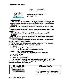 Giáo án Ngữ văn Lớp 9 - Tiết 1 đến 31 - Năm học 2011-2012