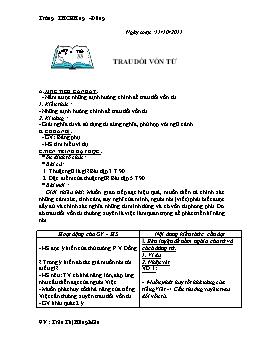 Giáo án Ngữ văn Lớp 9 - Tiết 3 đến 39 - Năm học 2011-2012
